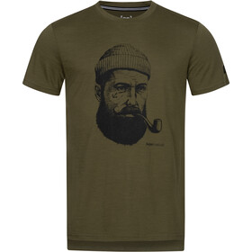 super.natural Graphic Tee Men, olive night/jet black sailor